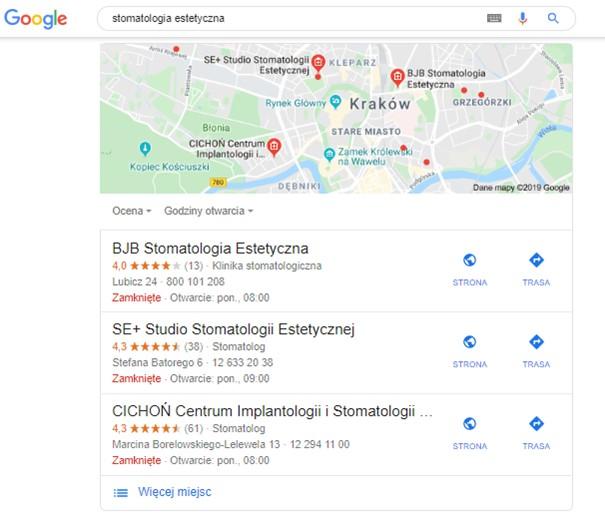 stomatologia estetyczna wyniki wyszukiwania wizytowki